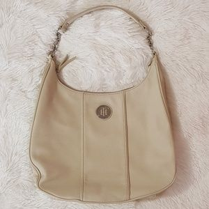 🏷FINAL PRICE‼HILFIGER CREAM HAND SHOULDER BAG